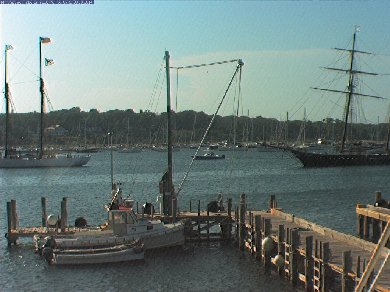 MVOL Webcam Overlooking Vineyard Haven Harbor, Martha's Vineyard